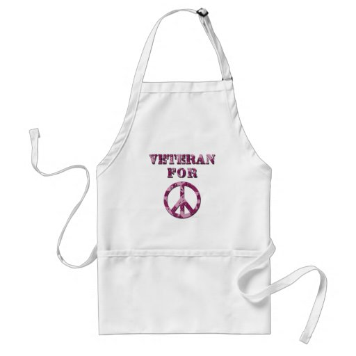Veteran For Peace Adult Apron