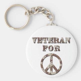 Veteran For Peace Keychain