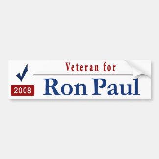 Veteran for Ron Paul Car Bumper Sticker