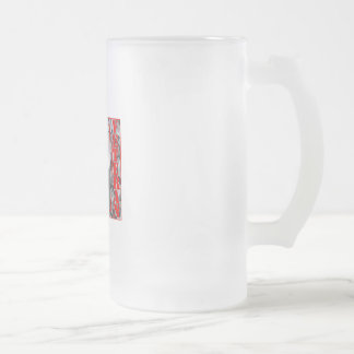 Veteran Frosted Glass Beer Mug