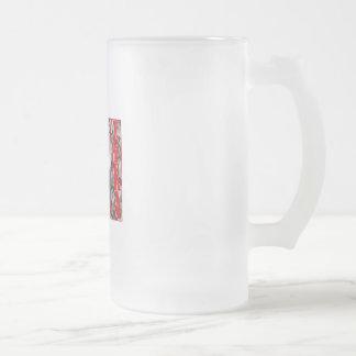 Veteran Frosted Glass Beer Mug