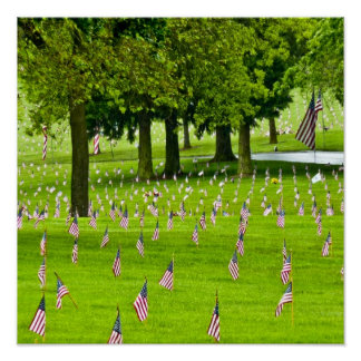 Veteran Hero Honor & Remember American Flag Poster