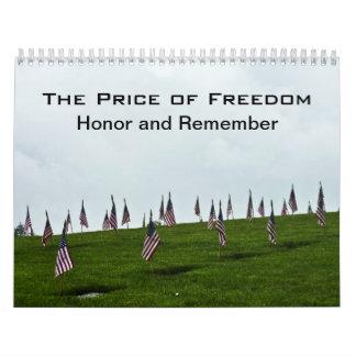Veteran Hero Military Honor Calendar