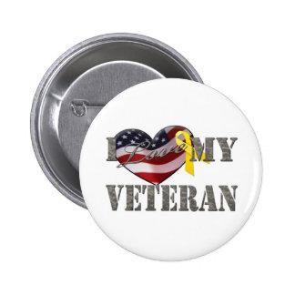 Veteran Love 2 Inch Round Button