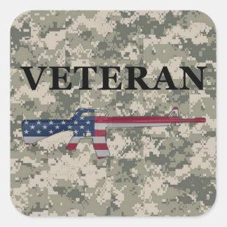 Veteran M16 Sticker ACU