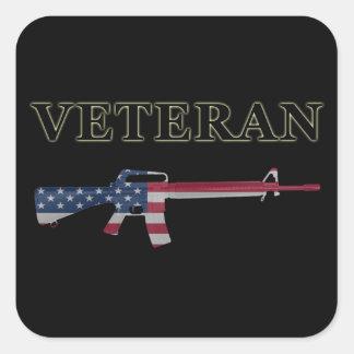 Veteran M16 Sticker Black