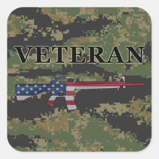 Veteran M16 Sticker Digital