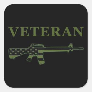 Veteran M16 Sticker Subdued Black