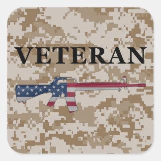 Veteran M16 Sticker Tan
