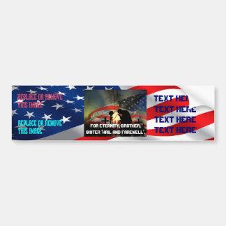 Veteran Memorial Vale of Tears Remembrance Bumper Sticker