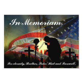 Veteran Memorial Vale of Tears Remembrance Card