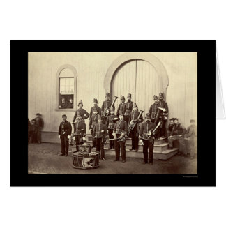 Veteran Military Band in Washington, DC 1865 Card