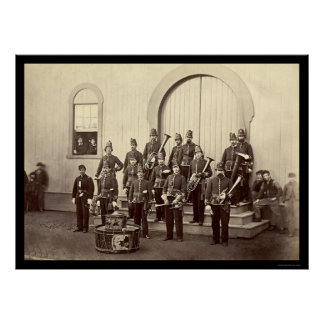 Veteran Military Band in Washington, DC 1865 Poster
