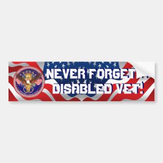 Veteran Military View About Design Bumper Sticker