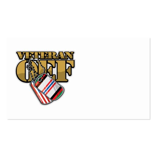 Veteran OEF Dog Tags Business Card