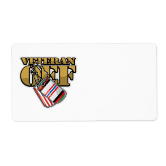 Veteran OEF Dog Tags Personalized Shipping Labels