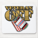 Veteran OEF Dog Tags Mouse Pad