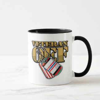 Veteran OEF Dog Tags Mug