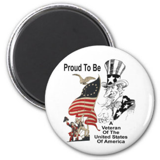 Veteran Of The United States 2 Inch Round Magnet