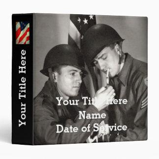 Veteran Photo Album (Personalized) 3 Ring Binders