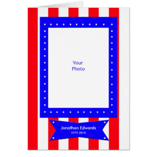 Veteran Photo Sympathy Thank You Card