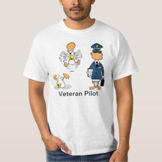 Veteran Pilot Aviation Humour Cartoon Shirt
