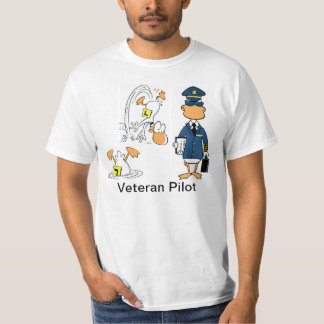 Veteran Pilot Funny Aviation Cartoon Shirt