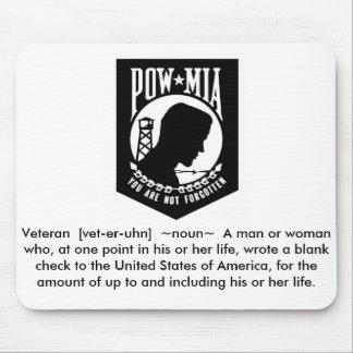 Veteran/POW Alfombrillas De Ratón