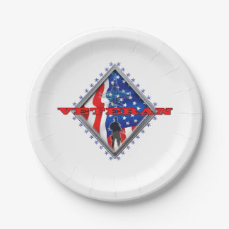Veteran Proudly Served Paper Plate