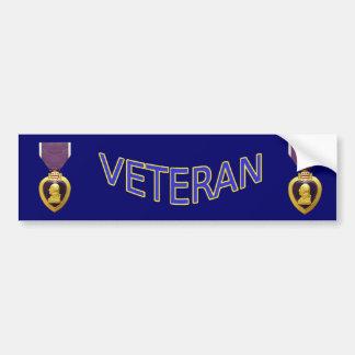 Veteran Purple Heart Bumper Sticker