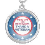 veteran remembrance pendant necklace