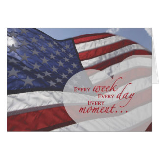 Veteran s Day Heart on Flag Greeting Cards