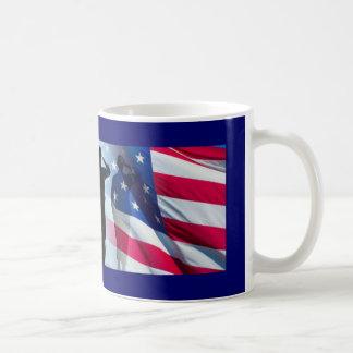 Veteran Salute the Flag Military Classic White Coffee Mug