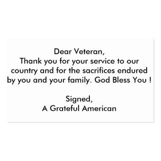 Veteran Thank You cards