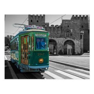 Veteran tram in Rome, Italy Postcard