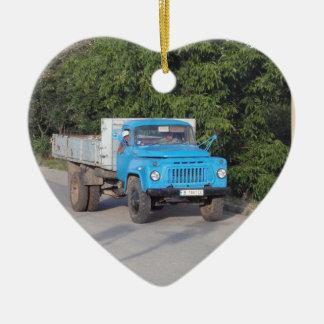 Veteran Truck Ceramic Ornament