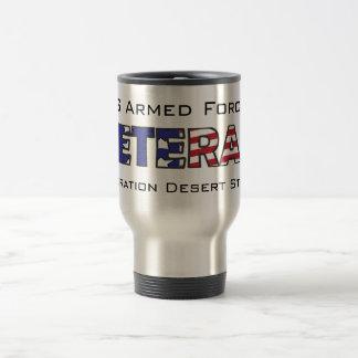 Veteran US Armed Forces Desert Storm Travel Mug