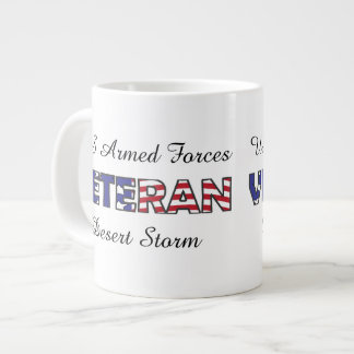Veteran US Armed Forces Military Vet Large Coffee Mug
