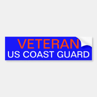 VETERAN: US COAST GUARD BUMPER STICKER