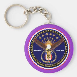 Veteran Vale of Tears Remembrance Over 50 Colors Key Chain