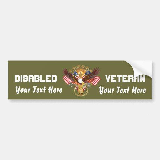 Veteran  View About Design Bumper Sticker