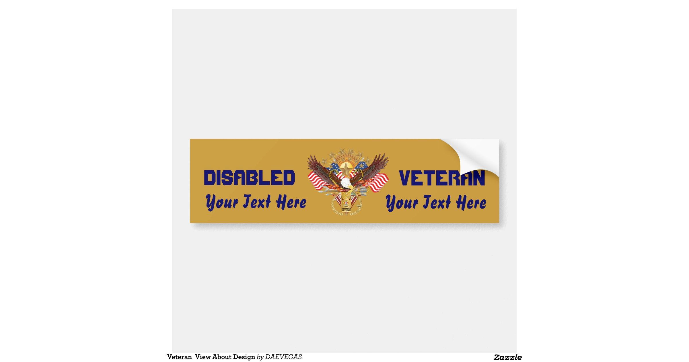 Veteran View About Design Car Bumper Sticker Zazzle