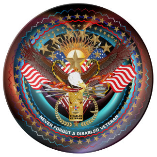 Veteran  View About Design Dinner Plate