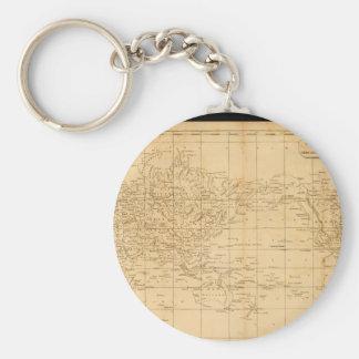 Veteran World Map 13 Keychain