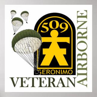 Veterano aerotransportado - 509o PIR Posters