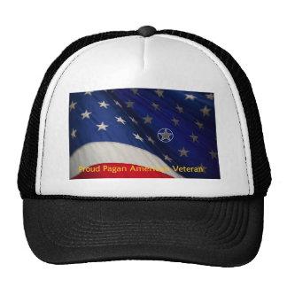 Veterano americano pagano orgulloso gorras