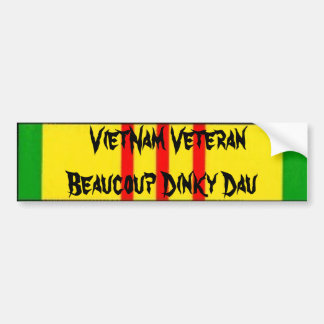 Veterano Beaucoup Dau pequeño de Vietnam Pegatina Para Auto