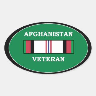 Veterano de Afganistán Pegatina Ovalada