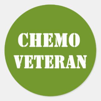 Veterano de Chemo Pegatina Redonda