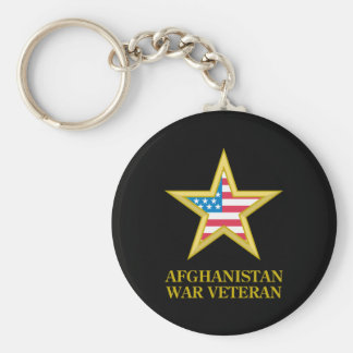 Veterano de guerra de Afganistán Llavero